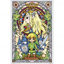 Panneau en Bois The Legend of Zelda Vitraux