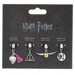 Pendentifs Harry Potter Symboles - Lot de 4