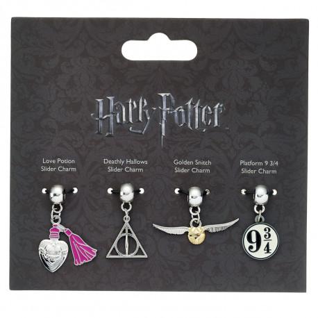 Pendentifs Harry Potter Symboles - Lot de 4