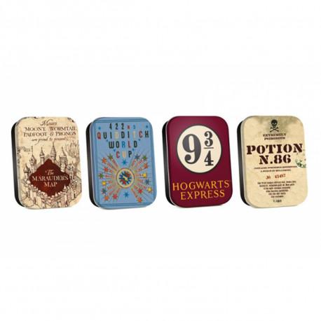Petites Boîtes Harry Potter Symboles - Lot de 4