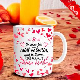 Mug Saint-Valentin Je t'Aime Tous les Jours