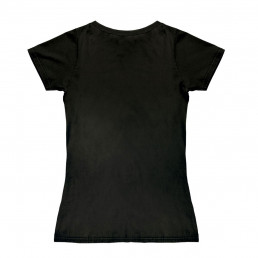 T-Shirt Femme Harry Potter Noir Armoiries de Serpentard