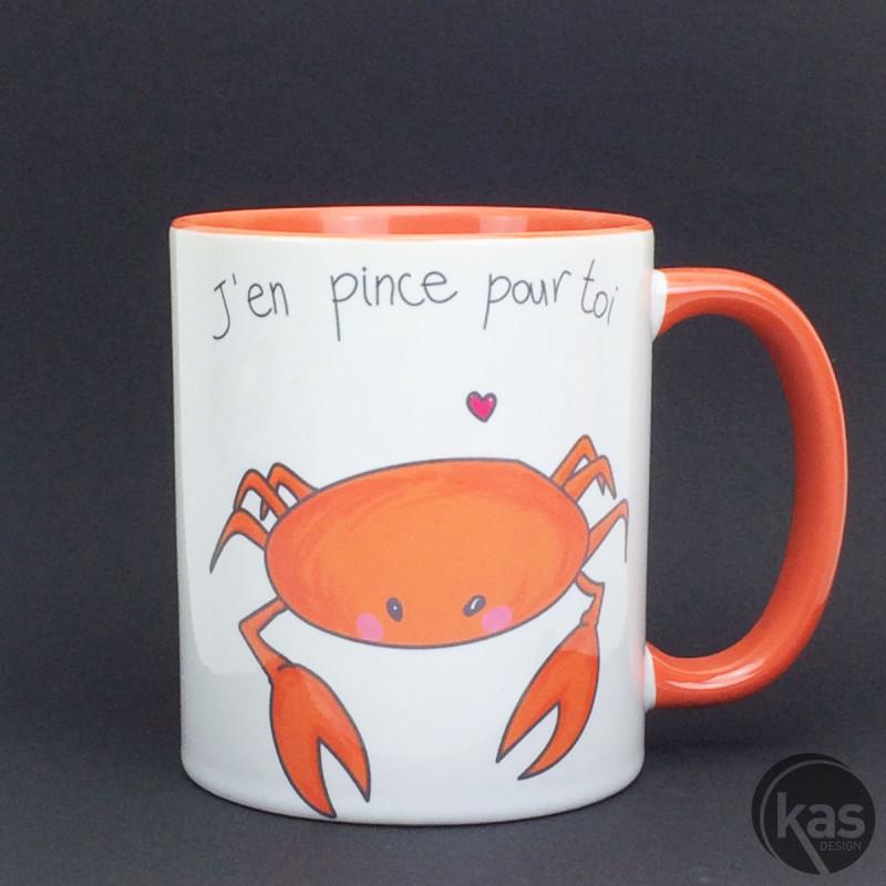 Pour Sur Slogan Pince « Toi Original Motif Crabe Mug Avec » J'en qzMUVSpG