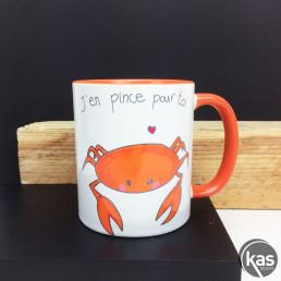 Mug Crabe J'en Pince Pour Toi