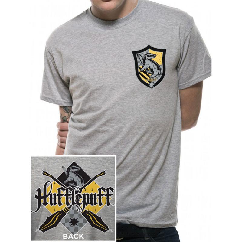 2ec887e537f8d T-Shirt Harry Potter Poufsouffle Gris Chiné. T-Shirt Harry Potter  Poufsouffle Gris Chiné