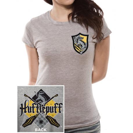 T-Shirt Femme Harry Potter Poufsouffle Gris Chiné