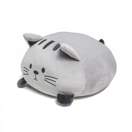 Coussin Moelleux Chat Gris