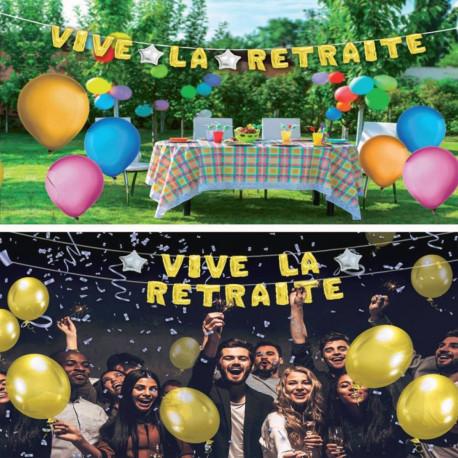 Guirlande de Ballons Géante Vive la Retraite 5 M