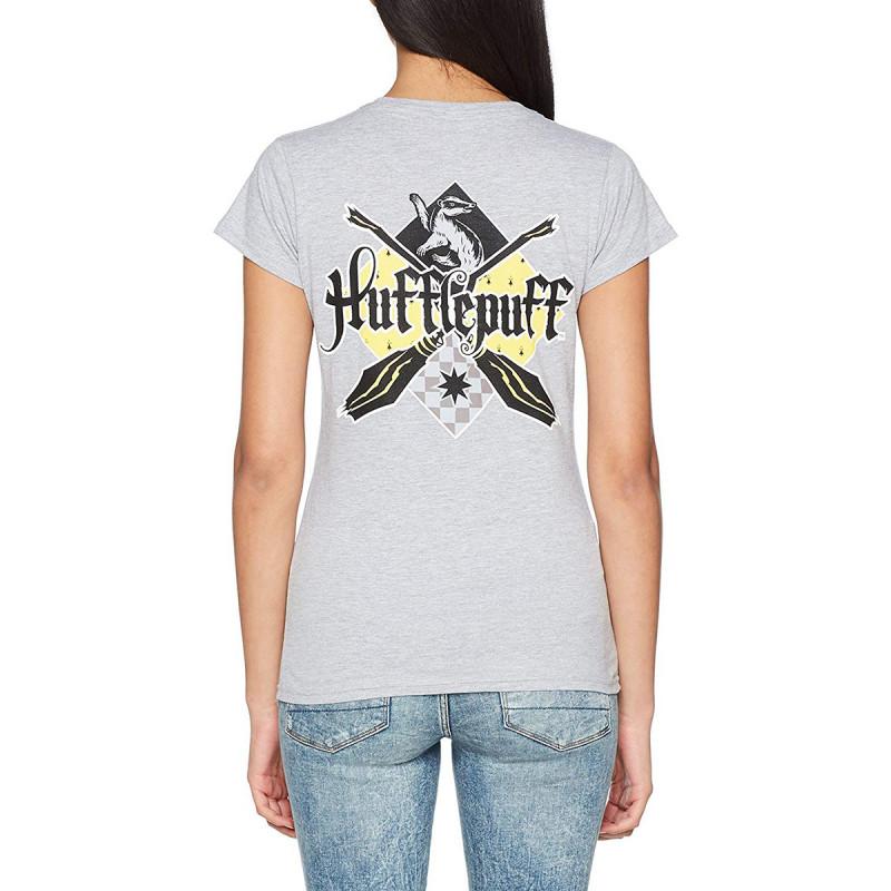 789b89963debb T-Shirt Femme Harry Potter Poufsouffle Gris Chiné. T-Shirt Femme Harry  Potter Poufsouffle Gris Chiné