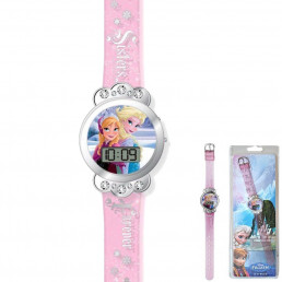 Montre Digitale La Reine des Neiges Sisters Forever Paillettes