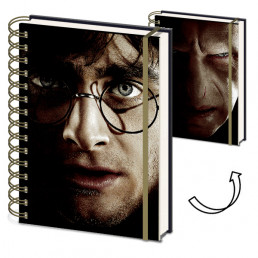 Carnet de Notes Harry Potter vs Voldemort Couverture Animée
