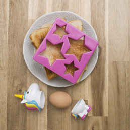 Set Coquetier et Coupe-Toast Licorne
