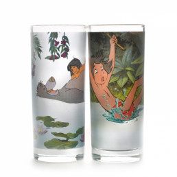 Verres Le Livre de la Jungle Disney - Lot de 2