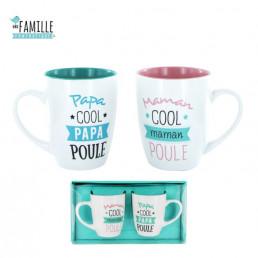 Coffret de 2 Mugs Papa / Maman Poule