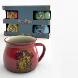 Tasses à Expresso Harry Potter Maisons Poudlard - Lot de 4