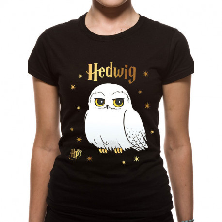 T-Shirt Femme Harry Potter Hedwige Etoiles