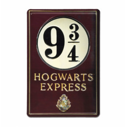 Plaque Métallique 3D Harry Potter - Voie Express 9 3/4