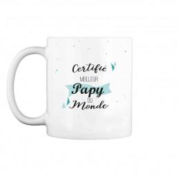 Mug Certifié Meilleur Papy du Monde