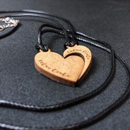 Collier Personnalisable Cœur Séparable Virgule