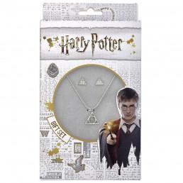Pack Harry Potter Les Reliques de la Mort - Collier et Boucles d'Oreilles