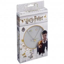 Pack Harry Potter Vif d'Or - Collier et Boucles d'Oreilles