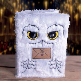 Carnet de Notes Harry Potter Chouette Hedwige Fourrure