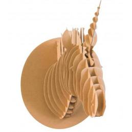Licorne 3D Décorative en Carton