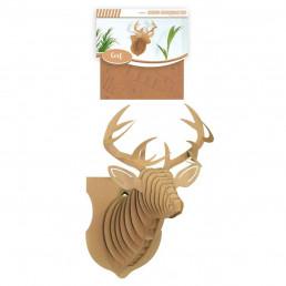 Cerf 3D Décoratif en Carton
