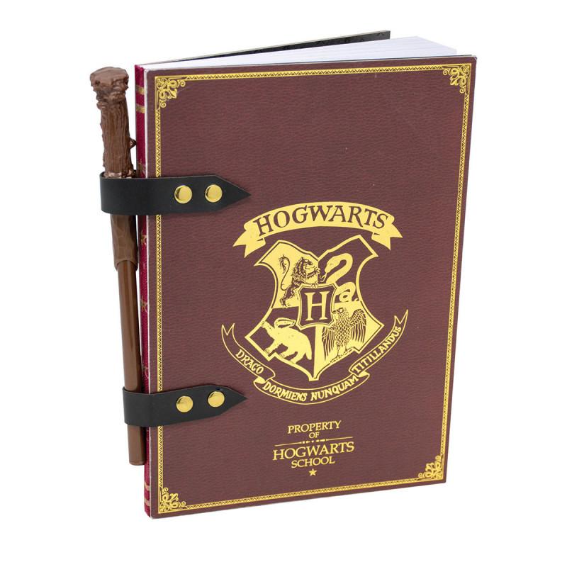 Set Carnet de Notes Harry Potter Poudlard et Crayon Baguette Magique
