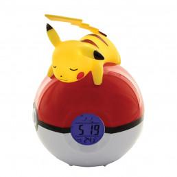 Réveil Lumineux Pokemon Pikachu Pokeball