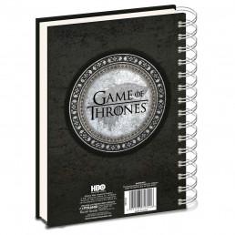 Carnet à Spirales Game of Thrones Stark