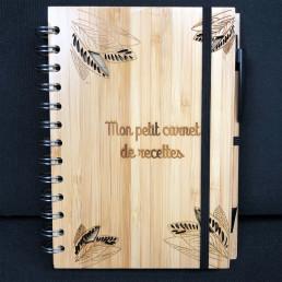 Set Personnalisable en Bambou - Carnet de Notes et Stylo