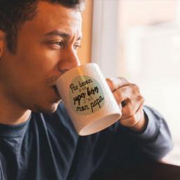 Mug Papa Super-Héros Personnalisable