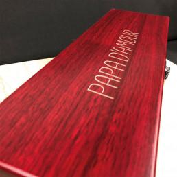 Coffret Deluxe pour Bouteille de Vin Personnalisable