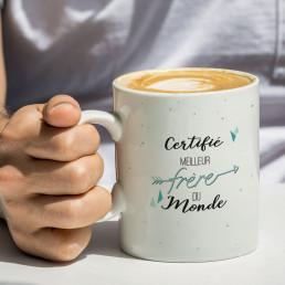 Mug Certifié Meilleur Frère à Personnaliser