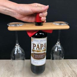 Service à Vin Personnalisable en Bambou