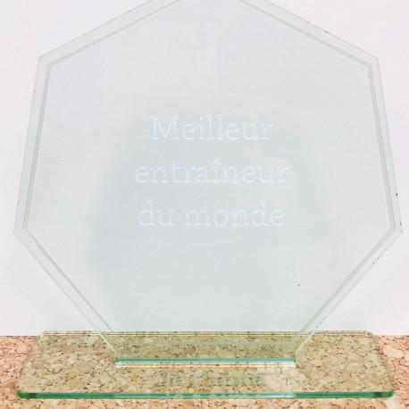 Trophée Polygone Personnalisable
