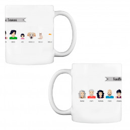 Mug Personnages Famille Personnalisable Panoramique