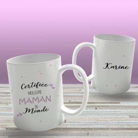 Mug Certifiée Meilleure Maman à Personnaliser