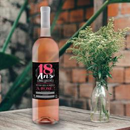Bouteille de Rosé Cuvée Spéciale Joyeux Anniversaire