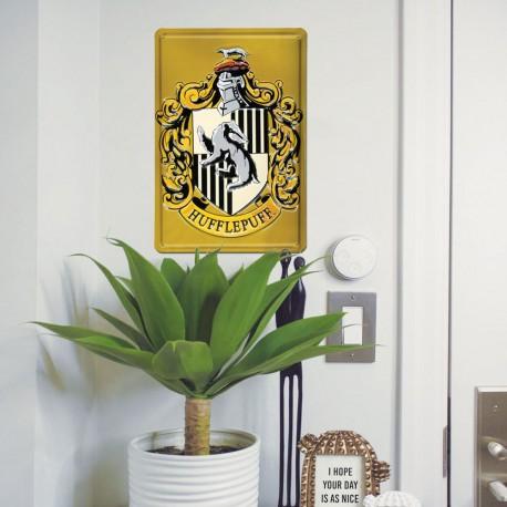 Plaque Métallique 3D Harry Potter - Poufsouffle