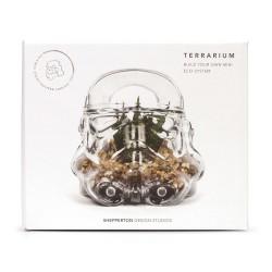 Terrarium Stormtrooper Star Wars en Verre et Bois