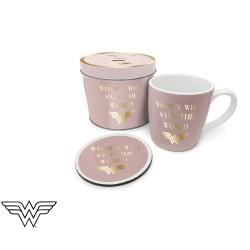 Boîte Cadeau Wonder Woman avec Mug et Sous-Verre