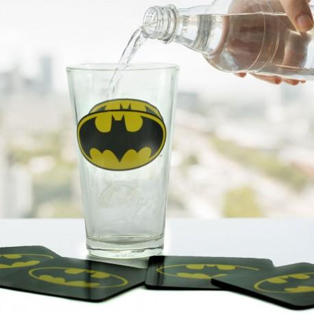 Maxi Verre Batman et 4 Sous-Verres
