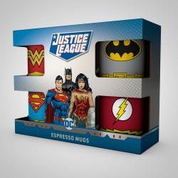 Set de 4 Tasses à Expresso Super-Héros DC Comics
