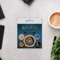 Pack de 5 Badges Harry Potter Poudlard