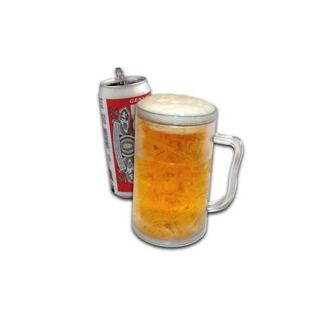 Rafraîchissez vos bouteilles avec humour avec cette chope réfrigérée à bière