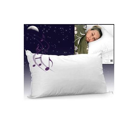 adoptez cet oreiller souple et moelleux qui vous permet d'écouter votre musique préférée tout en vous relaxant et en toute discrétion