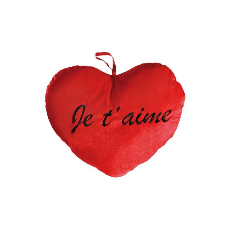 Coussin Coeur Rouge Geant Je T Aime Cadeau Valentin Sur Logeekdesign