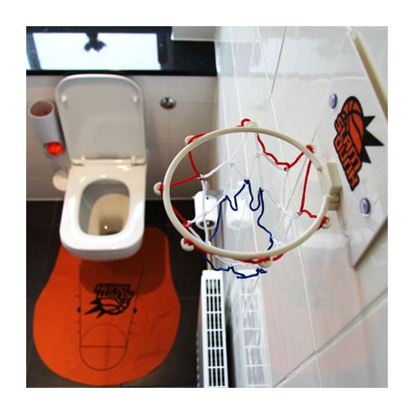 Quel meilleur moment pour perfectionner votre lancer ? Rentabilisez votre temps passé aux toilettes… avec le jeu de basket pour toilettes ! Il est le cadeau parfait pour pratiquer votre passion des ballons… en privé !